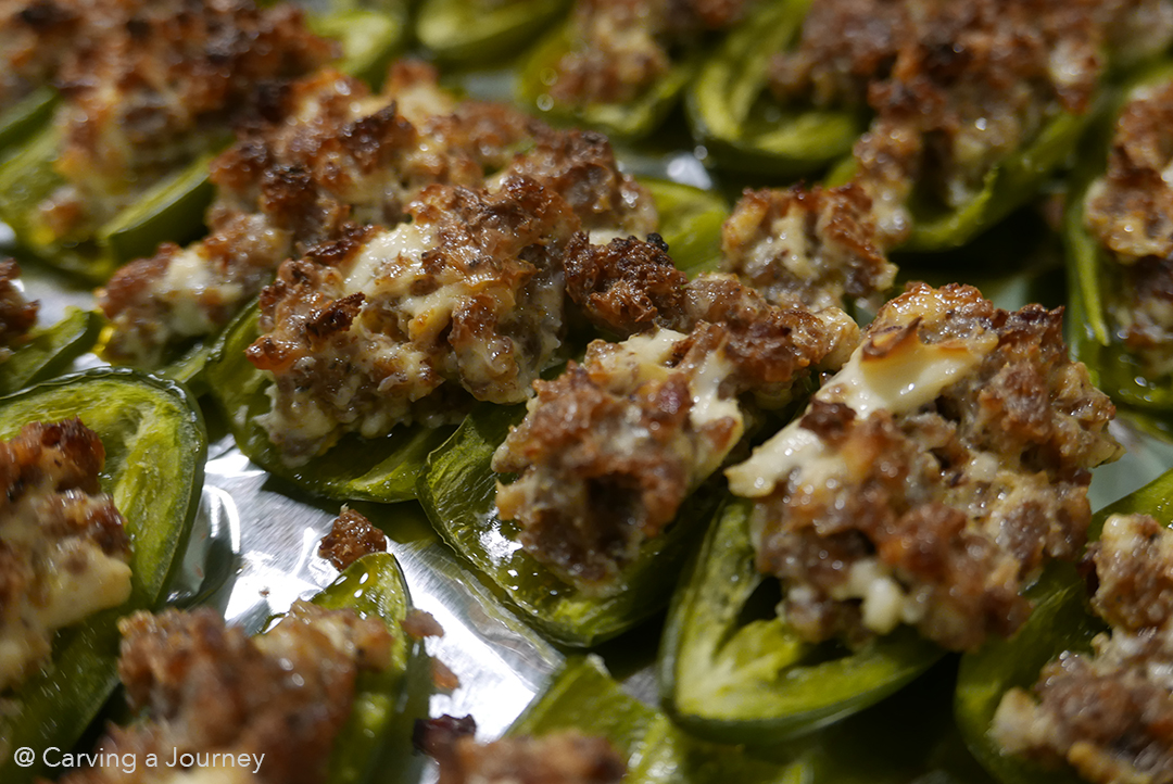 Spicy Roasted Jalapeno Poppers