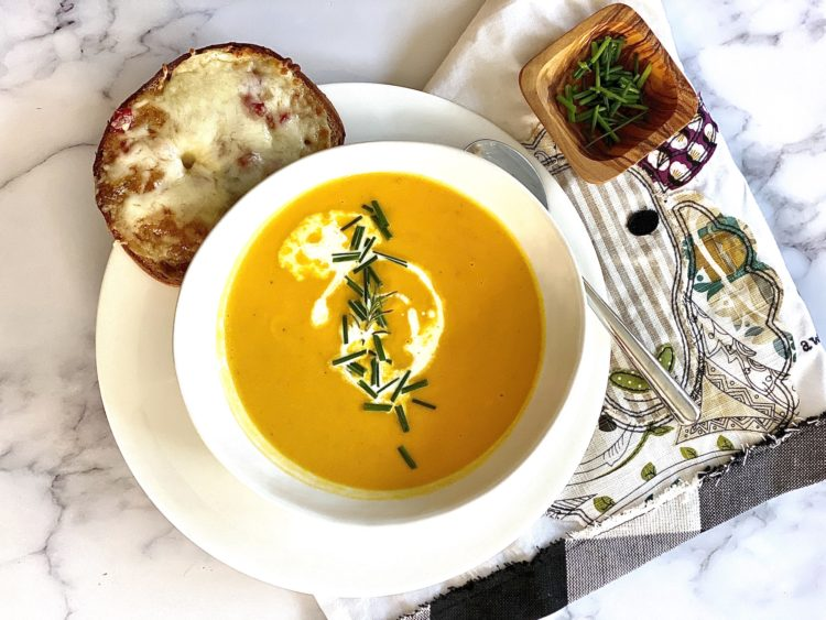 Garlic and Rosemary Butternut Squash Soup