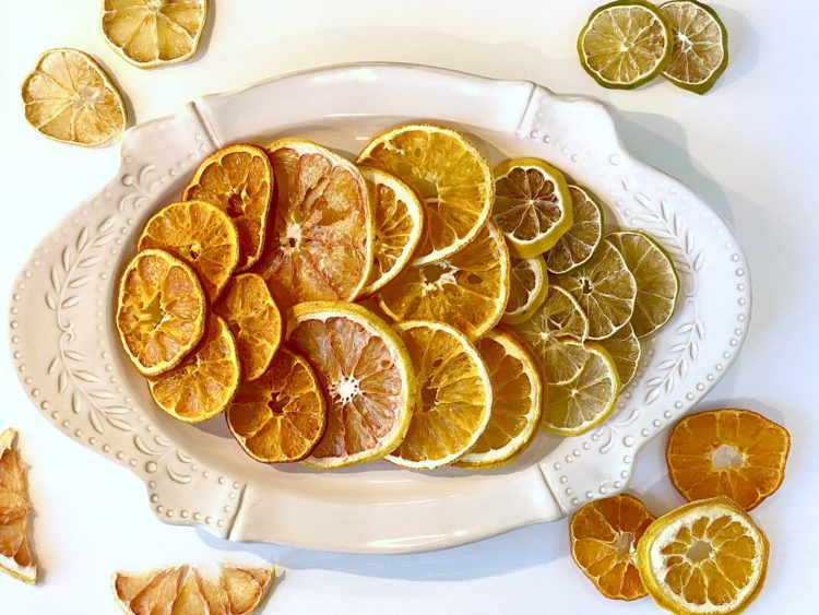 Dehydrated fruit selection on a plate